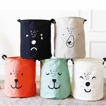 Cartoon DOG Foldable Dirty Laundry Basket Organizer Cute Printed Collapsible Waterproof Home Laundry Hamper Sorter Basket Holder - Category 🛒 All Category