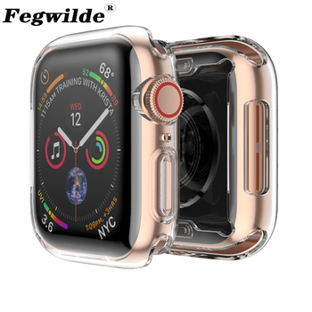 Soft cover case For Apple Watch band 44mm 40mm/42mm/38mm iwatch band Ultra-thin Clear cover apple watch series 6 5 4 3 44mm case 10pcs lot oca optical clear adhesive film sticker glue for apple watch 38mm 40mm 42mm 44mm series 1 2 3 4
