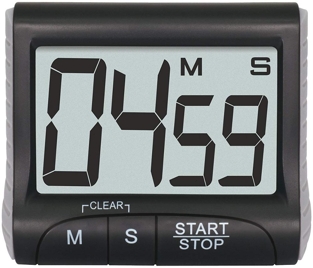 """Ultra large 3"""" display with easy-to-read bold clear digits kitchen timer"""