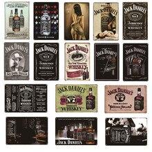 Vintage uísque metal poster jack retro estanho sinais pub cerveja bar parede placas decorativas decoração da sua casa 20x30cm al100