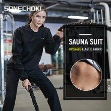 Conjunto de ropa de gimnasio con capucha para mujer, Jersey deportivo para correr, Fitness, sudoración, para perder peso