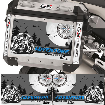 Trunk R 1200 GS R1200 GSA Case For BMW R1200GS Stickers Panniers Luggage Aluminium Adventure Motorcycle Tail Top 2017 2016 2015 image