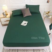 (Novo no produto) cobertura para colchão em lençol de 100% poliéster, quatro cordões com faixa elástica (sem fronhas), 1 peça