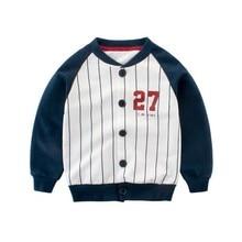 Baby Boy Long Sleeve Coat Winter Baby Sport Coat  Baby Boy Jacket Baseball Kids Jacket Coat Clothing Children Outerwear #25 autumn new children s jacket embroidery kids baseball clothing flight jacket boy jacket