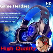 Surround Stereo Gaming Headset Headband Headphone Wired USB 3.5mm LED with Mic for PC PS4 Xbox One Laptops Tablet Smartphones binmer futural digital g800 stereo surround gaming headset headband micheadphone high quality f25