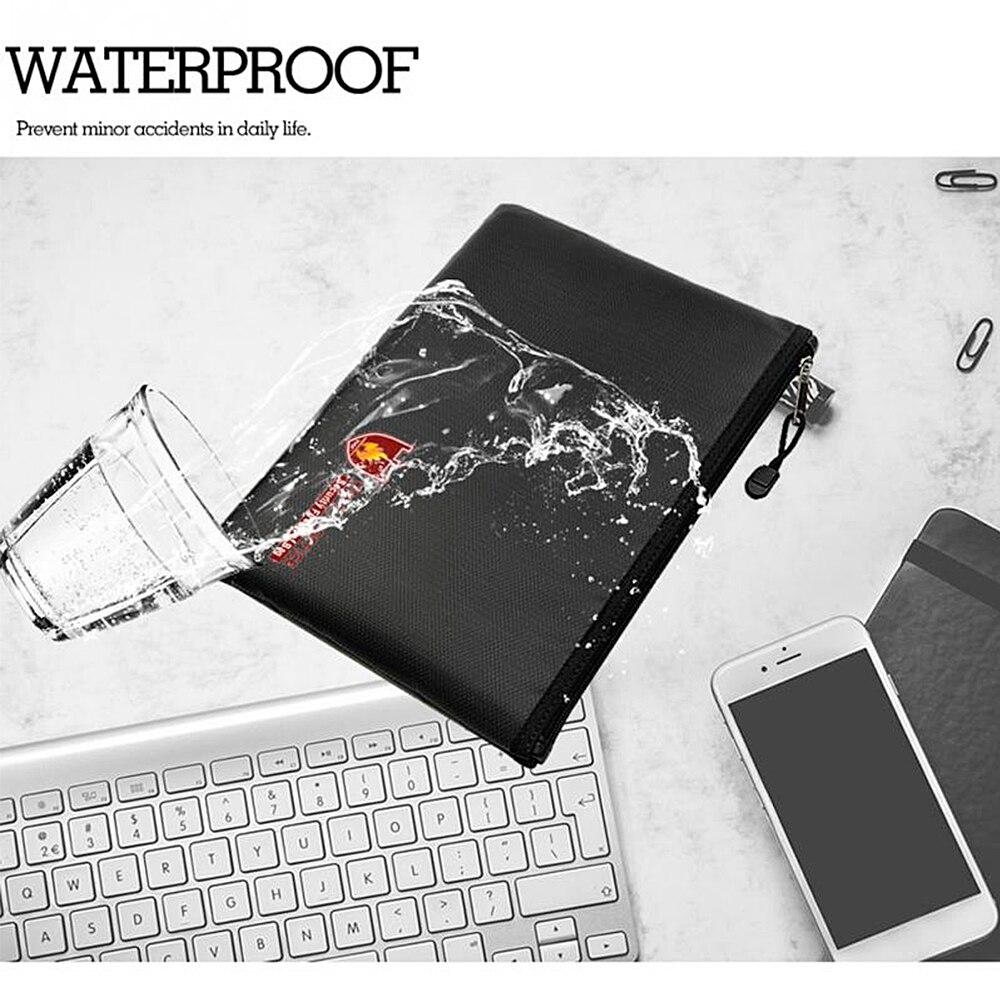 2020 Fireproof Waterresistant Money Safe Cash Box Secret Document Bag File Pouch Case Business Briefcases