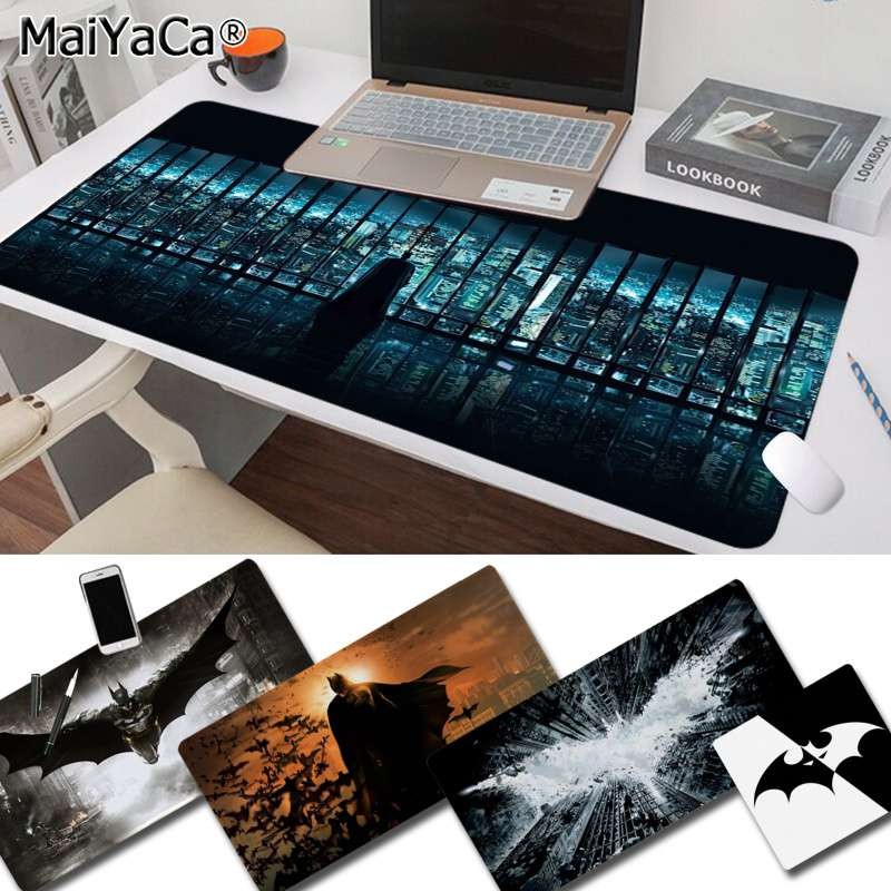 Maiya New Design Cool New Batman Silicone Large/small Pad To Mouse Game Free Shipping Large Mouse Pad Keyboards Mat