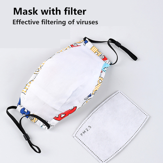Children Mask Washable Respirator 8 Layer Safety Protection Cotton Activated Carbon Anti Flu Kids Face Mask Anti Dust PM2.5 2