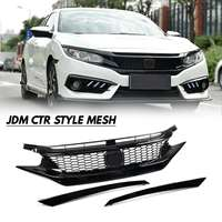 Mesh Racing Grills Replacement Type Front Grill For JDM CTR Style Sport Style For Honda For Civic 2016 2017 2018 10th Gen