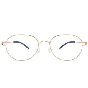 Image 4 - عالية الجودة خفيفة الوزن التيتانيوم البيضاوي نظارات دائرية للرجال النساء البصرية وصفة النظارات الإطار الكورية oculos دي غراو