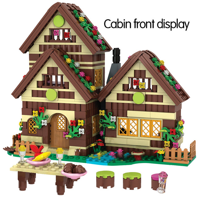 680PCS City Dwarf Huts Building Blocks Friends Villa Snow White Figures DIY Princess House Bricks Toys For Girls Gift