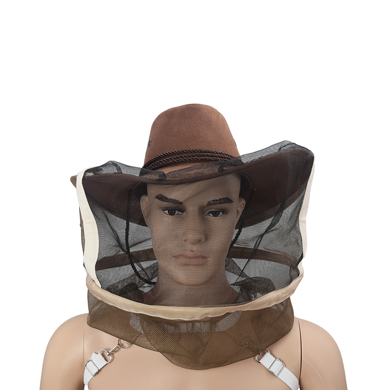 Bee keeping Cowboy Hat Mosquito Durable Insect Net Veil Cap Portect Face Head US