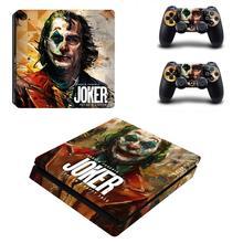 DC Die Joker PS4 Dünne Aufkleber Play station 4 Haut Aufkleber Decals Für PlayStation 4 PS4 Slim Konsole und Controller skins Vinyl