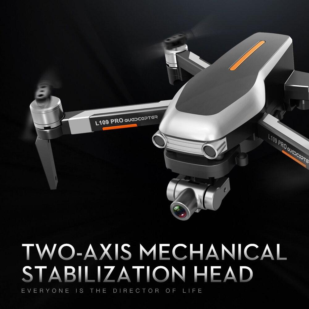 L109 PRO GPS Drone With 2-axis Gimbal Anti-shake Selfstabilizing Wifi FPV 4K Camera Brushless Quadcopter VS SG906 PRO F11 ZEN K1 1