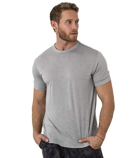 2021 Men Merino Wool T Shirt Base Layer Wool Tech Tee Men 100% Merino Wool Shirt 170gram Wicking Breathable Anti-Odor Size S-XXL 3