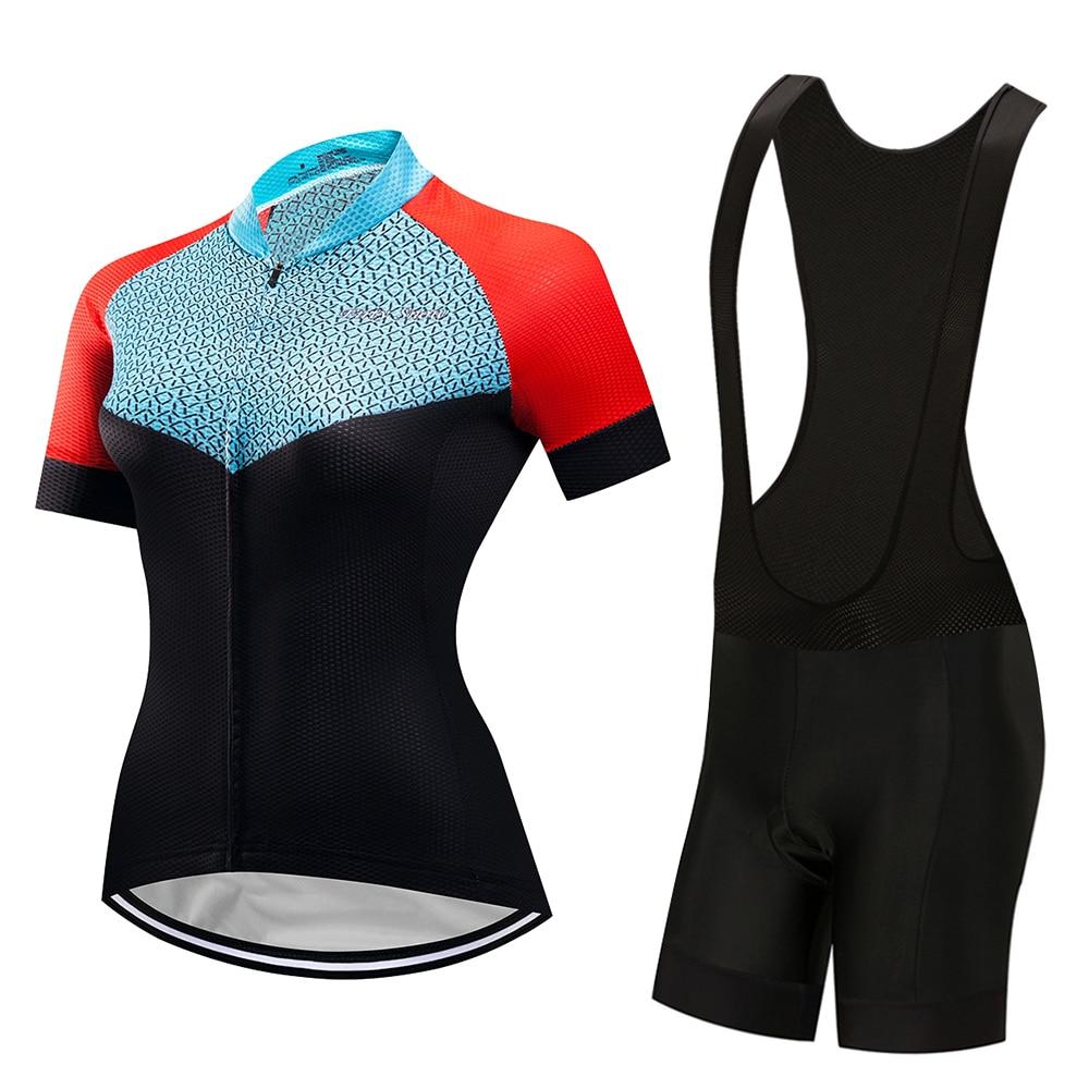 Summer short sleeve women cycling clothes 2020 road bike jersey bib set MTB triathlon suit bicycle clothing sport dress trisuit