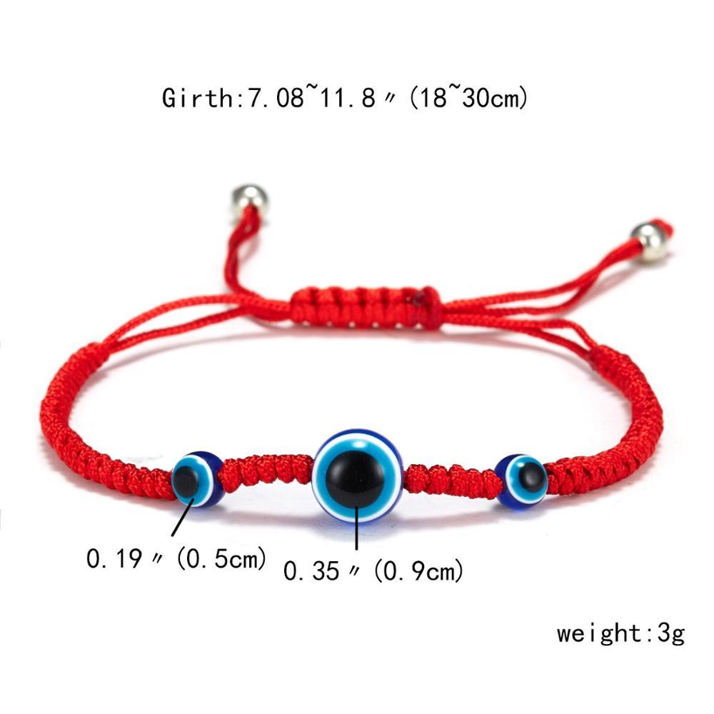 Турецкий синий злой глаз красная низка на удачу регулируемый браслет для женщин синий Фатима руки желая стеклянная бусина ручной работы браслет - Окраска металла: 2