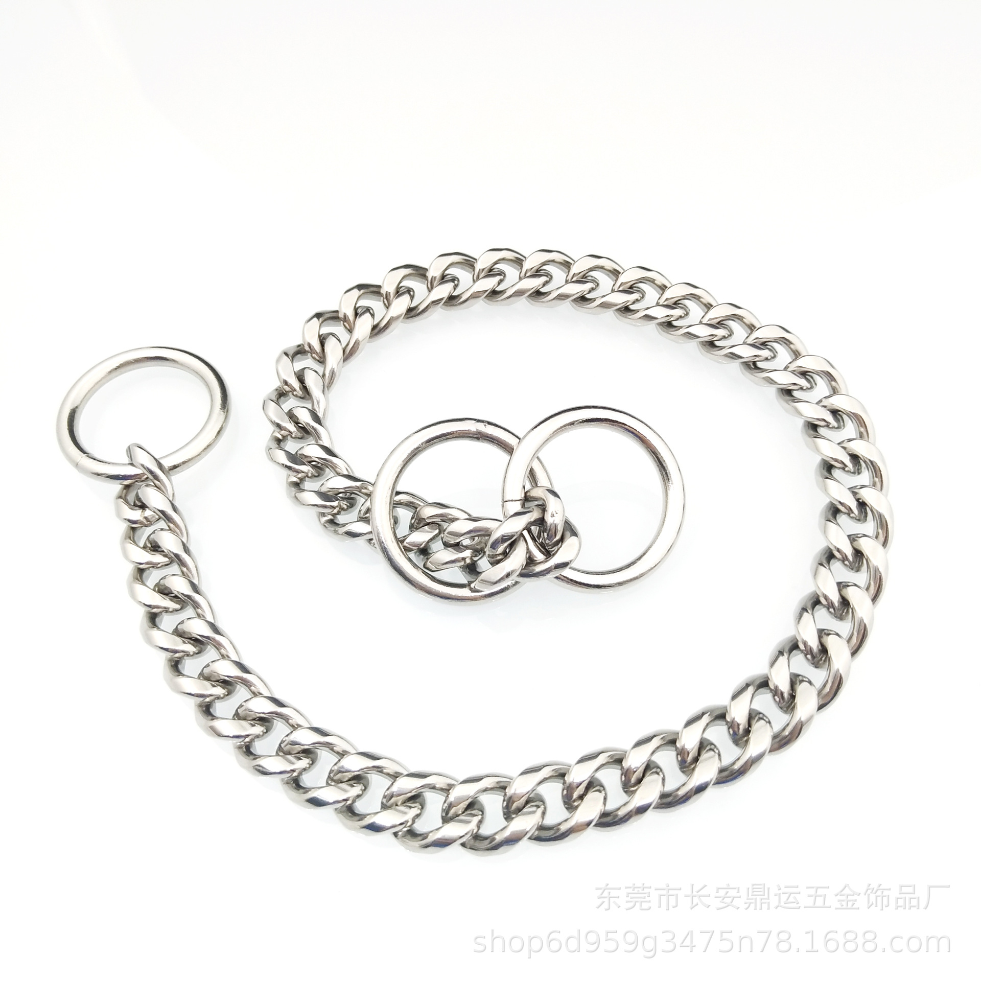 Hot Selling Pet Useful Product Golden Retriever Rottweiler Dog Chain Stainless Steel Dog Collar 304
