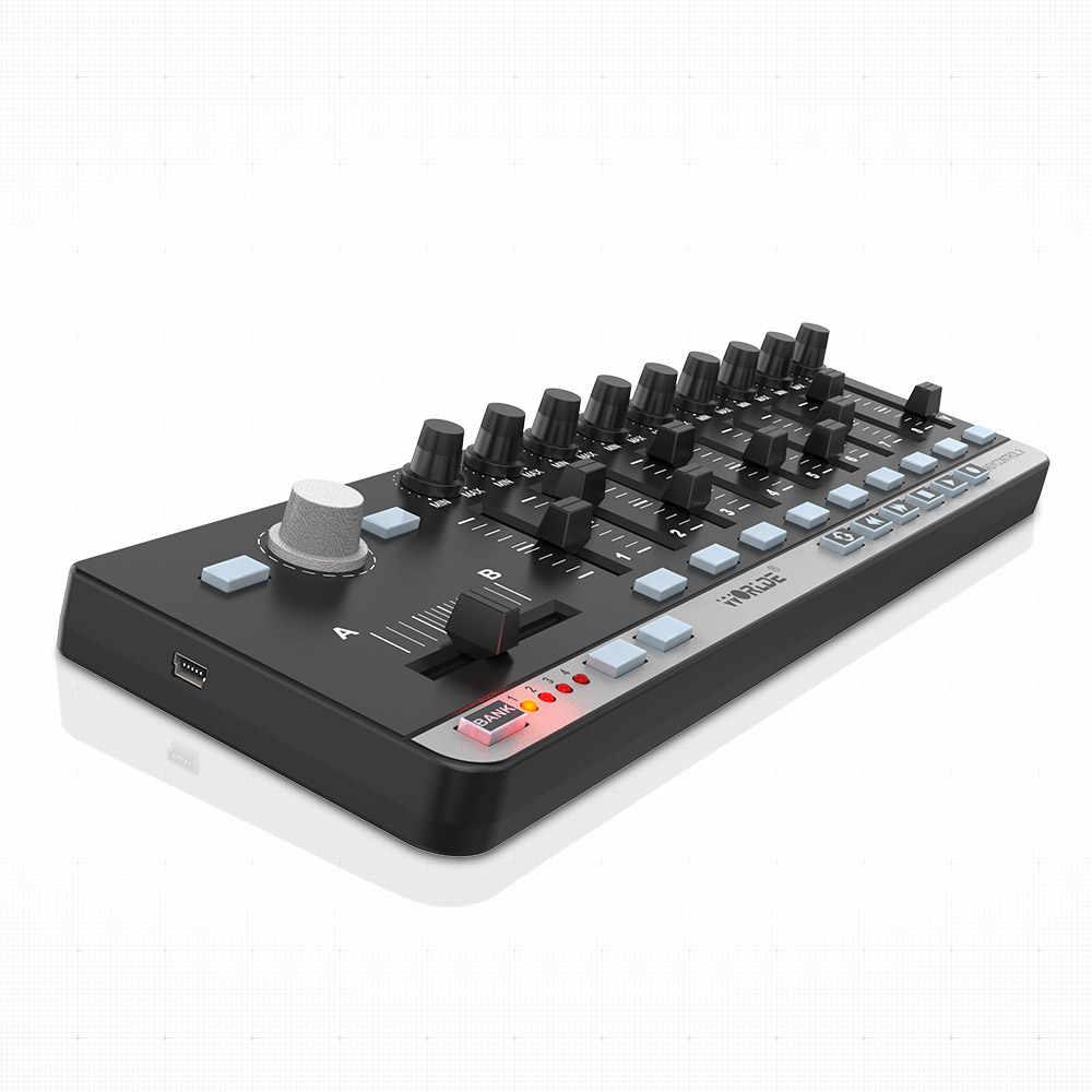 Di alta Qualità di vendita Calda Worlde EasyControl.9 Portatile Mini USB 9 Slim-Line di Controllo Controller MIDI