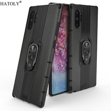 For Samsung Galaxy Note 10 Plus Case Finger Ring Armor PC Hard Phone
