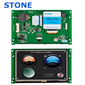 """5,0 """"программируемая промышленная Сенсорная панель LCD с разработанным программным обеспечением Поддержка любого микроконтроллера 100 шт"""