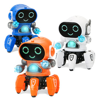 Dance Music 6 Claws Robot Octopus Spider Robots Vehicle Birthday Gift Toys For Children Kids Early Education Baby Toy Boys Girls 2