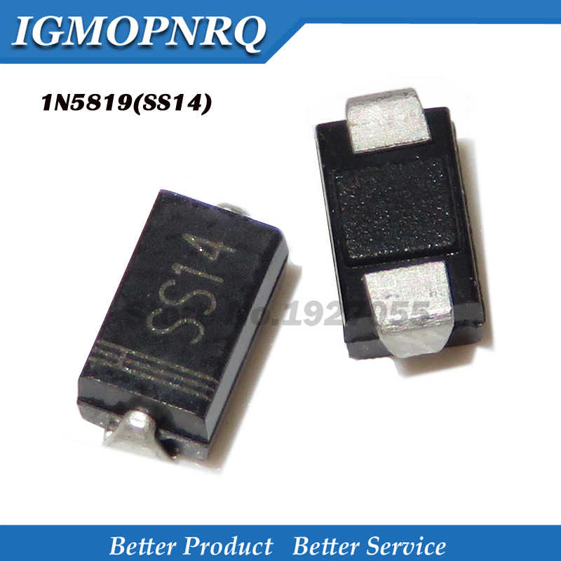 1N5819 SS14 40V 1A Schottky Rectifier Diode SMA DO214AC SMD