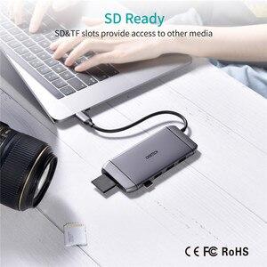 Image 5 - Convertisseur dextension, lecteur de cartes Sd 3.0, adaptateur daccueil Type C vers HDMI, HUB pour SD, TF, lecteur de cartes, Notebook, MacBook, Smartphone
