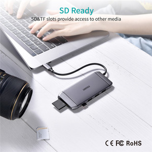 Image 5 - Sd Card Reader 3.0 DockingประเภทCถึงอะแดปเตอร์HDMI HUBสำหรับSD TF Card Readerโน้ตบุ๊คMacBookสมาร์ทโฟนขยายconverter HDMI