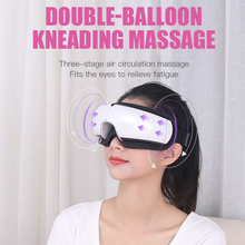 цена на Double Airbag Electric Eye Massager Five Modes Smart Air Pressure Heated Goggles Anti Wrinkles Health Care Tools Music Eye Relax