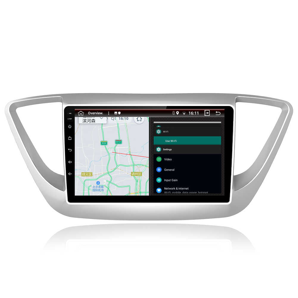 "9 ""RAM 2G ROM 32G الروبوت 8.1 مشغل أسطوانات للسيارة GPS لاعب ل هيونداي فيرنا سولاريس سيارة راديو ستيريو رئيس وحدة مع والملاحة"