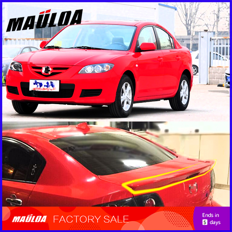 High quality primer unpainted white black color ABS car rear spoiler fit for Mazda 3 M3 2006 07 08 09 10 11 2012