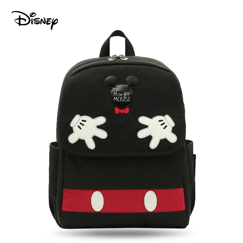 Disney Usb Mummy Bag Multi-function Large Capacity Insulation Shoulder Portable Fashion Baby Out Of The Back Milk Diaper Bags