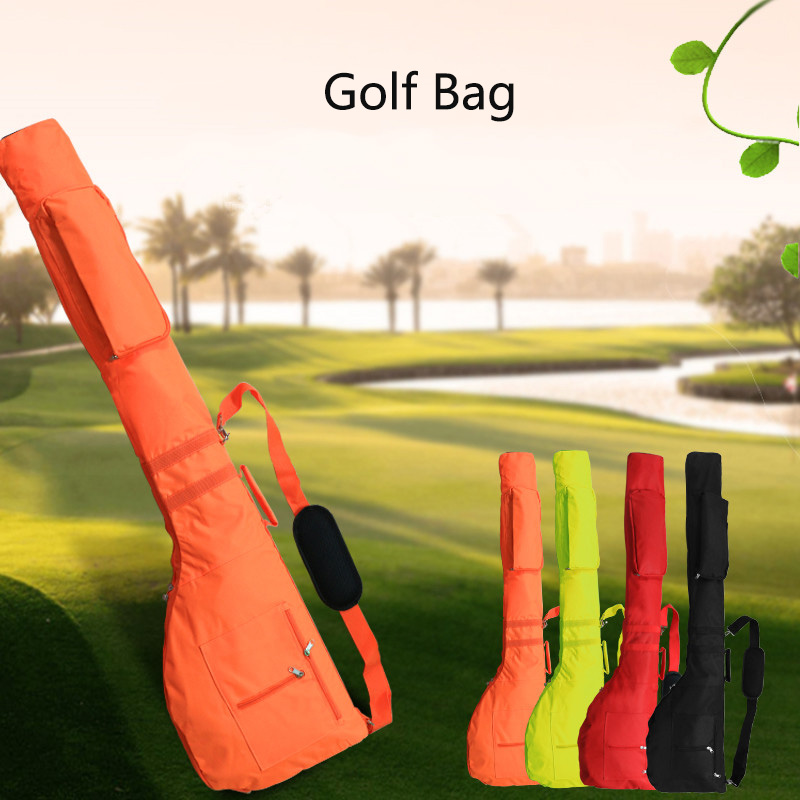 Portable Golf Club Bag Nylon Environmental Protection Material Set Bag Soft Foldable Golf Accessories  For Outdoor Practice