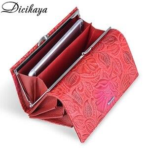 Image 5 - DICIHAYA Exclusive Design Leather Women Wallet Luxury Brand Design High Quality Women Purse Card Holder Long Clutch Phone Bag