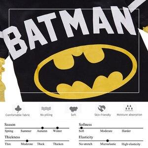 Image 5 - Batman Superman karikatür çocuklar uzun kollu erkek T Shirt pamuklu üst giyim Slim Fit Tee Ropa Bebe Tshirt sonbahar Camiseta çocuk giysileri