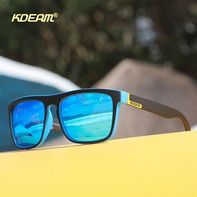 Fashion Guy's Sun Glasses From KDEAM Polarized Sunglasses Men Classic Design All-Fit Mirror Sunglass With Brand Box CE 6