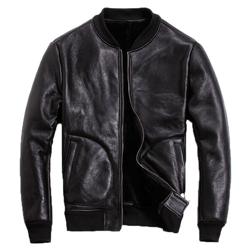 Leather Jacket Men Sheep Shearing Winter Coat Men Korean Plus Size Baseball Jacket for Mens Clothing 2020 Casaco 6-908 YY967
