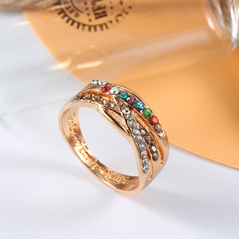 Women's Ring Color Zircon Geometric Gold Color Fashion Ring Customized Ring For Women Banquet Engagement Engagement Girlfriend 2