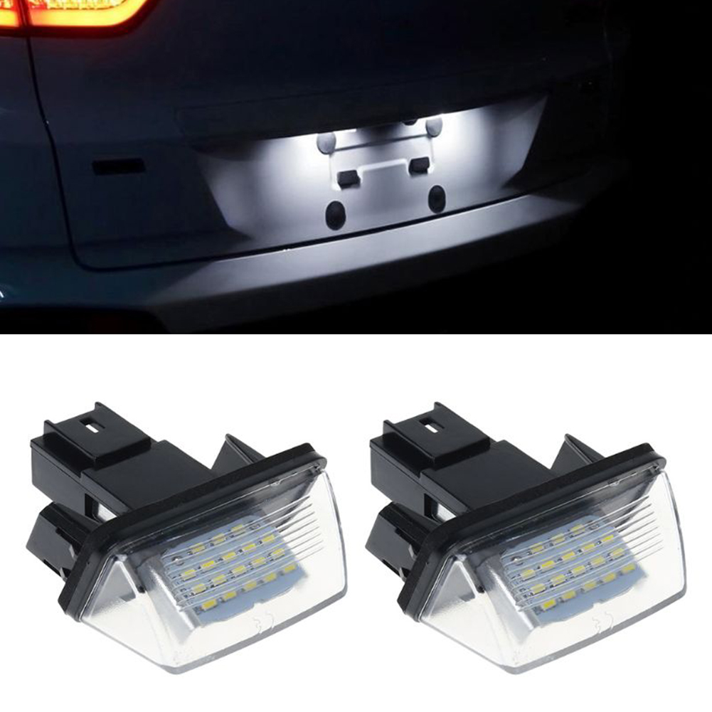 2pcs <font><b>LED</b></font> License Number Plate <font><b>Lights</b></font> For <font><b>Peugeot</b></font> 206 207 306 307 <font><b>308</b></font> 406 407 5008 For Citroen C3 C4 C5 Car License Plate Lamps image