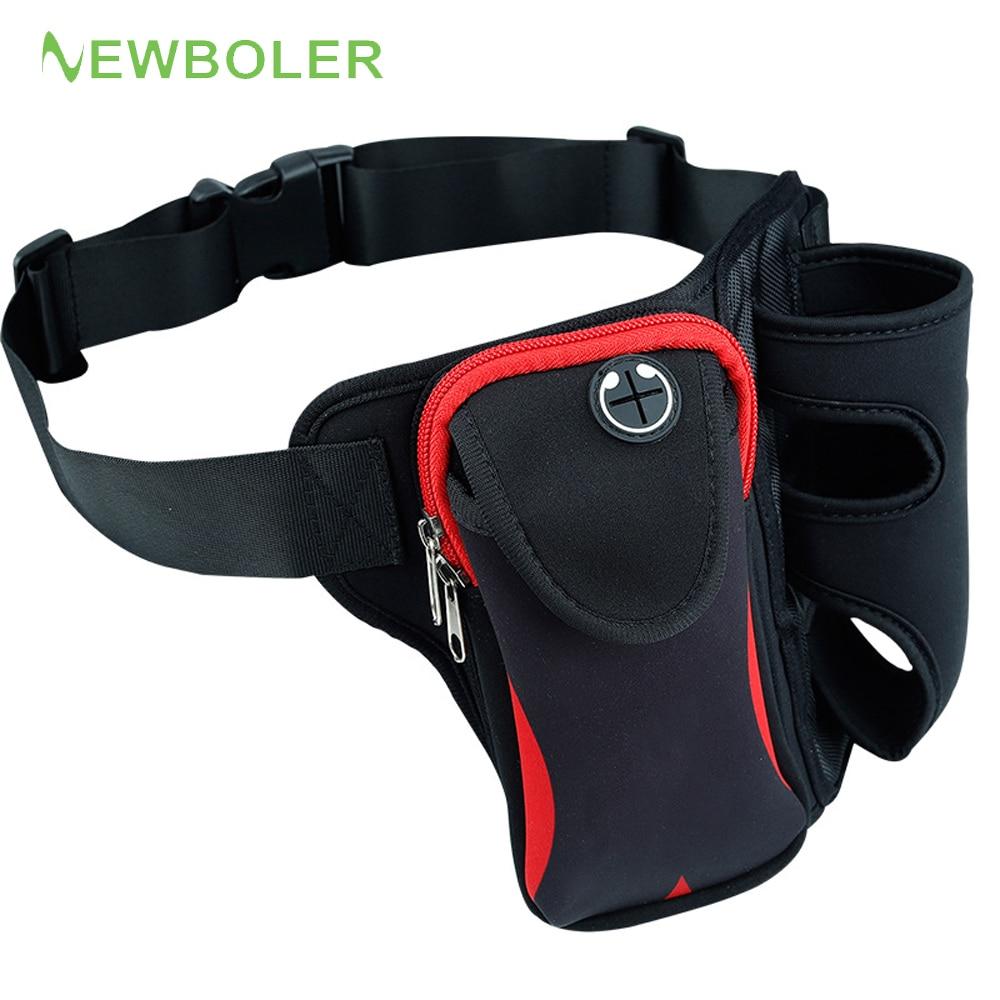 Marathon Jogging Running Hydration Belt Cycling Waist Bag Pouch Fanny Pack Phone Holder For 500ml Water Bottle