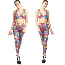 Print Yoga Sets Women Gym Clothes Leggings Sexy Sports Wear High Waist Fitness Clothing Breathable Crochet Ropa Deportiva