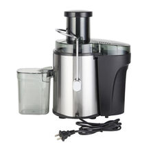 ZOKOP American Standard J02 110V 600W 75MM Large Caliber 600ML Juice Cup 1000ML Slag Cup Double Gear Electric Juicer Stainless S(China)