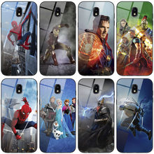 Fashion Tempered Glass Case For Samsung Galaxy J5 2017 J530F J5 Pro 2017 J530Y Printing rabbit Scenery Cover Phone Back Shell(China)