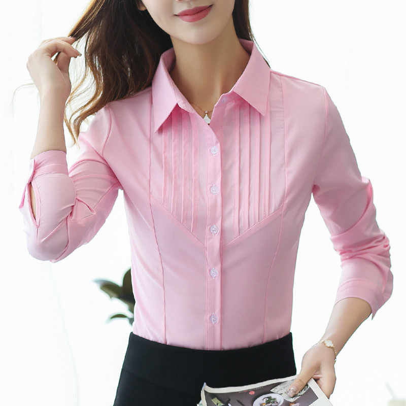 Women Blouse Womens Tops and Blouses Cotton Ladies Tops Shirts Women 2018 Shirts Pink Blusa Feminina Plus Size XXXL/5XL Shirt
