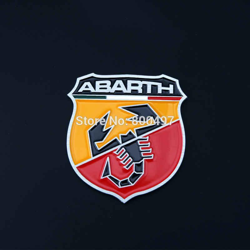 10 x 新加入 3D アルミ合金車のエンブレムフィアット Abarth カーアクセサリー車粘着車のロゴ車のスタイリングバッジ