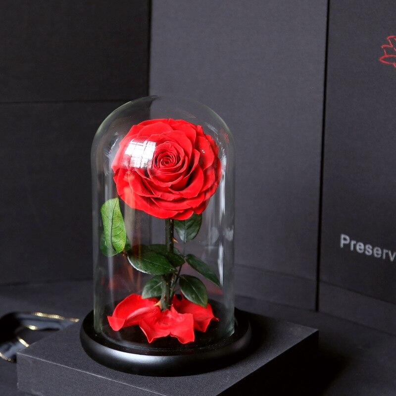Fleur éternelle petit prince couvercle en verre boîte-cadeau cadeau de noël nouvelles roses produits finis yunnan usine en gros