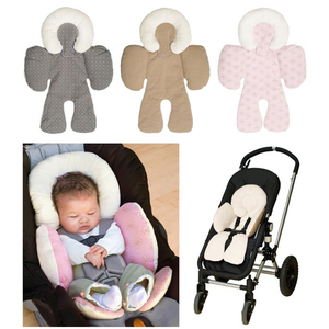 Image 1 - Baby stroller cushion car seat accessories Carriage thermal pad liner children shoulder belt strap cover Neck Protection