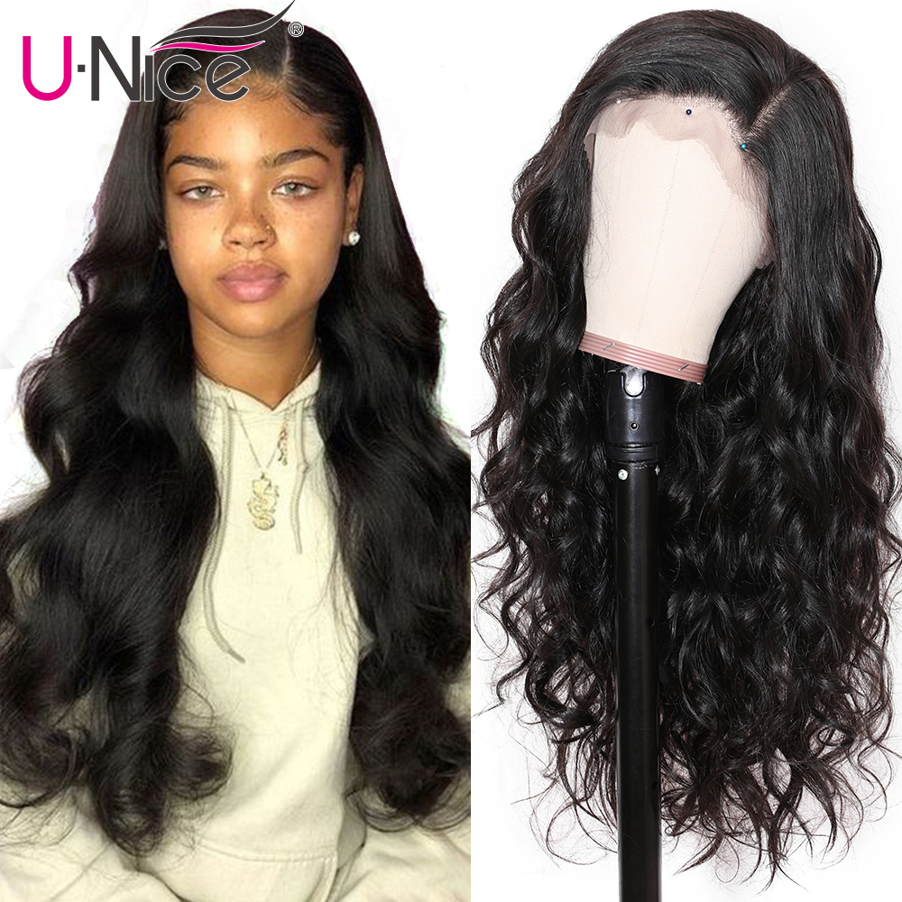 Hec24e787993b4938b0cc7c2bdb0601d9J UNice Hair 13X4/6 Transparent Lace Wigs With Baby Hair Body Wave Invisible Lace Front Human Hair Wigs Pre-Plucked Lace Wigs