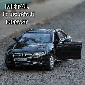 132 литая под давлением игрушечная машина audi Модели 4 с открывающимися дверцами металлическая модель звук и светильник игрушка джип для дете...